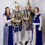 Jubelprinzenpaar Hermann I. und Sylvia I. mit Thronfolgerpaar Dominik I und Anna I